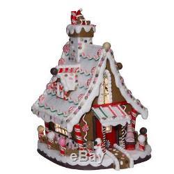 Lighted Gingerbread Christmas Candy House 12 Kurt Adler J3628