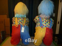 Lot Of 2 Puppi Style Animated Mechanical Clowns Christmas Store Window Display