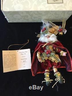 Lot of 6 Small MARK ROBERTS Christmas Fairies + Box + Collector Card FREE SHIP