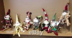 MARK ROBERTS Lot of 7 Christmas Santa Fairies Artist Designed RETIRED