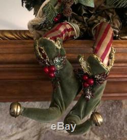 MARK ROBERTS Vintage Alpine Woodland Santa Christmas Pixie Fairy Elf Medium Doll