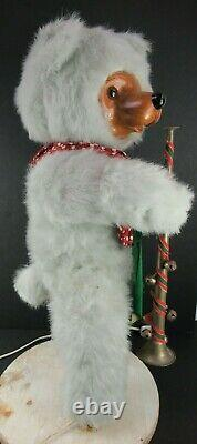 MECHANICAL CHRISTMAS STORE DISPLAY BEAR WORKS! Approx. 24 Tall
