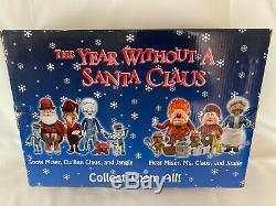 MIB NECA Year Without A Santa Claus Figure TRIO SET Santa SNOW MISER Jangle
