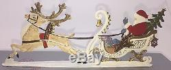 Mib Wilhelm Schweizer Diessen Pewter Santa In Sleigh Reindeer