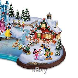 Magical Christmas World of Disney Sculpture Lighted Holiday Statue Figurine