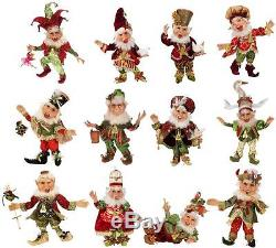 Mark Roberts 12 Days Of Christmas Elves Set of 12 Small 51-68250 10 15 Tall