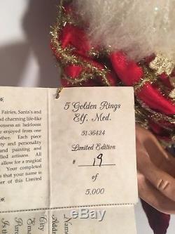 Mark Roberts 5 Golden Rings Elf Medium #51-36424