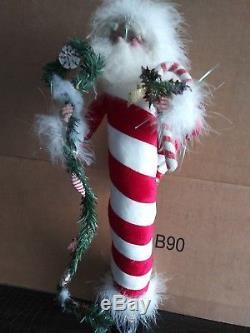 Mark Roberts Candycane Santa very rare retired many years ago