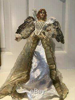 Mark Roberts Christmas Angel Fairy Gold Hanging Tree Topper 14