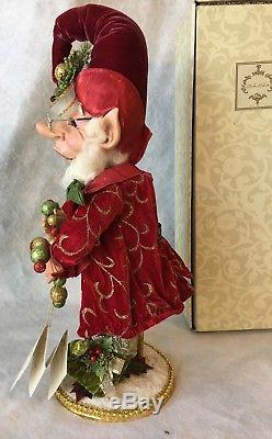 Mark Roberts Christmas Decorating Elf And Stand 19 Med Retired LE 284/1200