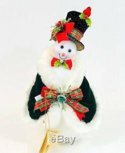 Mark Roberts Christmas Mr & Mrs Snowman Snow Couple #51-97366 NIB