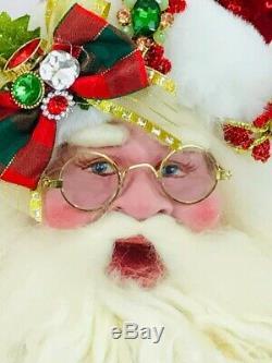 Mark Roberts Christmas Santa Claus Holly Jolly Santa, #51-97040 NIB
