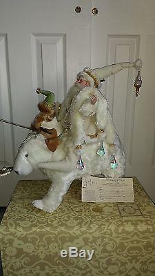 Mark Roberts Collectible Santa Riding On Polar Bear 24 51-27682 w COA # 129/150
