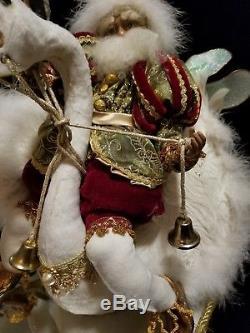 Mark Roberts Lrge Santa Fairy Riding Swan 7th Day Christmas Mirror Base 2003 16