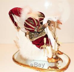Mark Roberts Ornate Santa Sitting on a Swan Christmas Mirror Base 2004