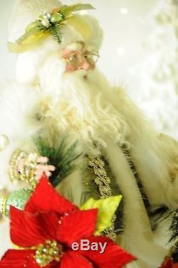 Mark Roberts Ponsettia Santa Signed, 25 Limited Edition 2016