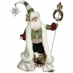 Mark Roberts Santa Collection Holly Snow Santa 51-85696 25 Inches