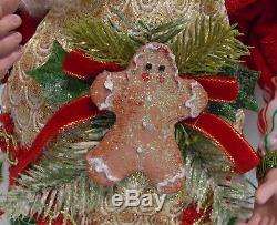 Mark Roberts Sugar & Spice Fairy Baker Chef Gingerbread Cookies Large 22 in Box