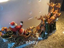 Members Mark Santa Sleigh with Reindeer Porcelain Christmas decoration