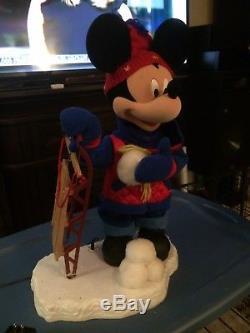Mickey Mouse Santas best. Like Telco. Animated Animatronic Christmas Display