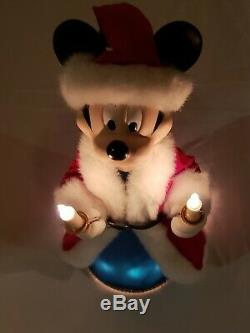 Mickey Mouse Tree Topper Christmas 12 Inch Lighted Electric Disney Santa Claus