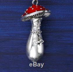 Mihail Chemiakin & Mihail Sasonko Christmas Toy Mushroom Silver Plate