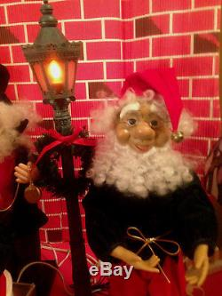 Motionette Santas Elf Elves Vtg LOT Animated RARE Lamp Lighter withWatch Lanterns