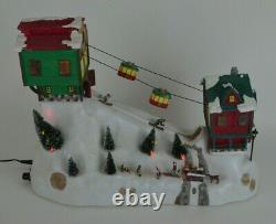 Mr Christmas Winter Wonderland Cable Cars Animated Skiers Music Lights 2006