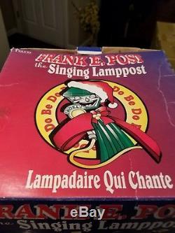 NEW FRANK E POST TELCO Musical Lighted Christmas LAMPSTAND SINGS BATT 1997 RARE