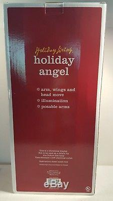 NEW Holiday Living Animate Illuminated Poseable Arms Christmas Angel Large 25