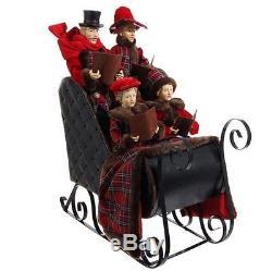 NEW RAZ 22.5 Large Caroler Family in Sleigh Christmas Decoration 3500750