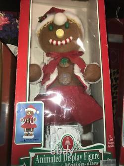 NEW Vtg Telco Gingerbread Couple Motionette Animated Displays Moving Figure 24