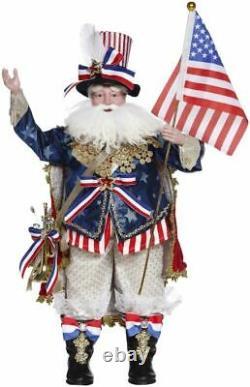 NIB Mark Roberts Patriotic Santa 2021 21.5 51-15926