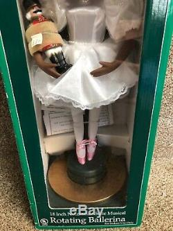 New Holiday Time Musical Rotating African Ballerina Doll Nutcracker Suite 18