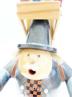 New Vintage Christmas 2010 KWO ERZGEBIRGE GERMAN INCENSE SMOKER Toy Maker