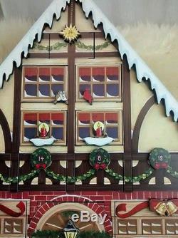 Nice Traditions by Buyer's choice advent calendar Santa wood house 24 doors
