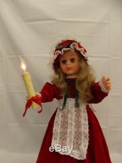 Original Vtg Santas Best 26 Victorian Animated Illuminated Christmas Doll Box
