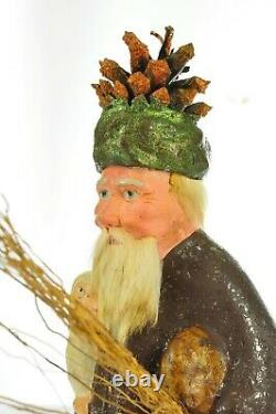 Outstanding Early Antique German Santa Claus Candy Container1880-90 VIDEO