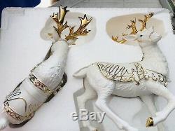 Porcelain Christmas Ensemble Grandeur Noel Collectors Edition 2000 Good Cond