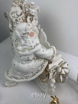 Porcelain Christmas Ensemble Grandeur Noel Collectors Edition 2000 Santa Sleigh