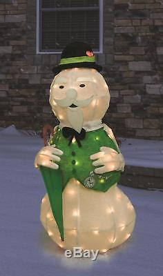 Product Works 36 Tinsel Sam Snowman withUmbrella Rudolph's Christmas 3D Yard Art