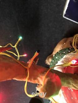 RARE 26 Puleo Fiber Optic Holiday Christmas Reindeer Outdoor/Indoor Super cute