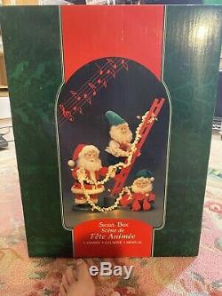 RARE 31 1994 Santa's Best Animated Elf Ladder Trimming Tree Christmas Music