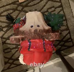 RARE 32 Fiber Optic Resin Wood Look Bear Indoor/outdoor Holiday Decoration IOB