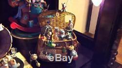 RARE Enesco GONE FISHING Moving Mice Fishing Basket Music Box VIDEO
