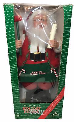 RARE Vintage Holiday Creations Santa Claus Animated Christmas Figure Motionette