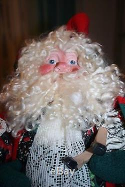 RARE Vtg House Hatten Night Before Christmas Santa Plush Figure by D. Calla 21