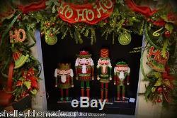 RAZ Metal Nutcracker Christmas Decorations set of 4 me 3538007 NEW