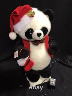 RaRe Telco Motionette Panda Bear Santa Moving Figure Animated Christmas