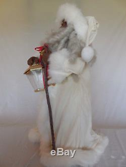 Rare 1994 Telco Motionette African American Santa w Lantern Animated Figure p433